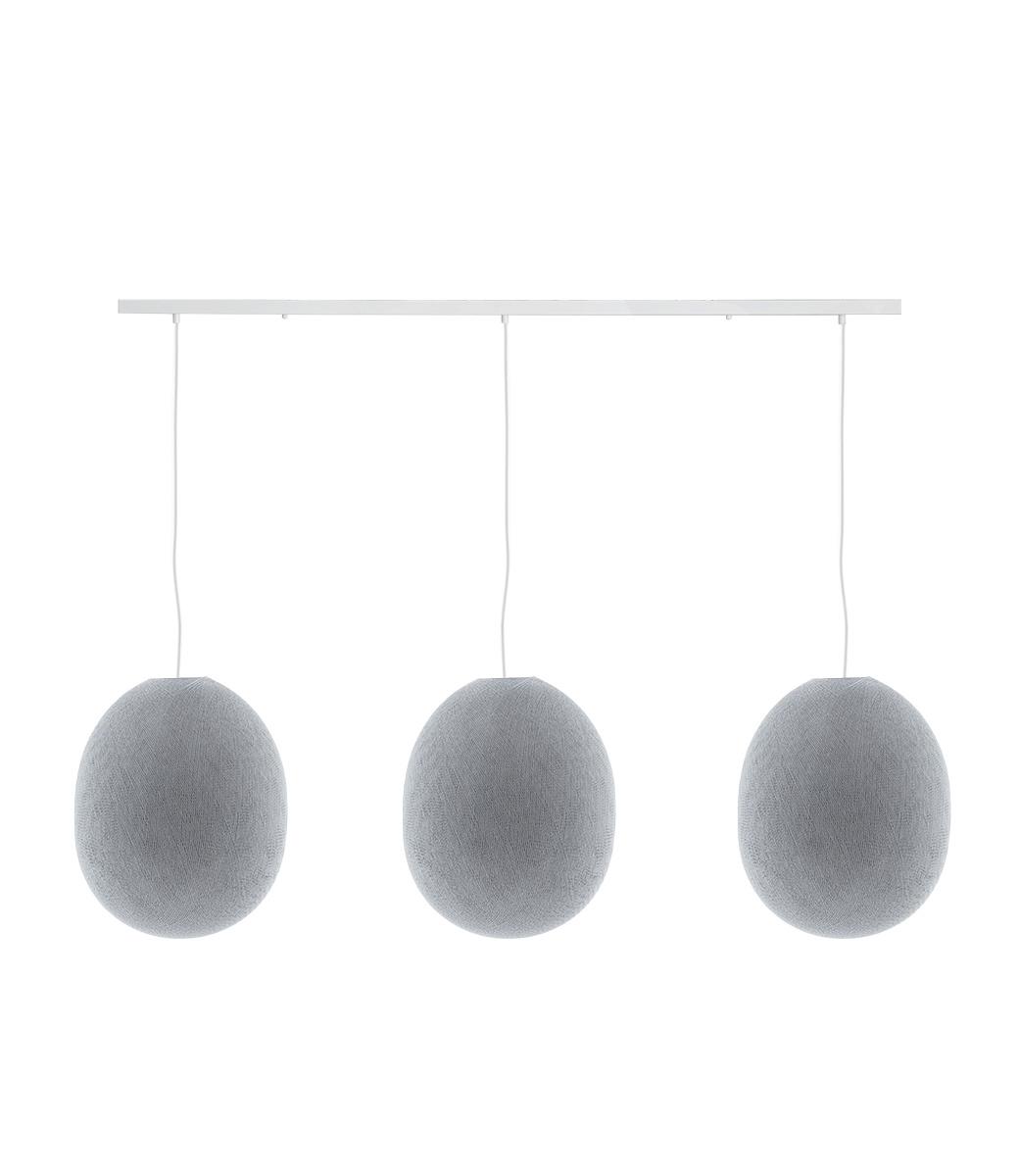 Cotton Ball Lights Drievoudige hanglamp balk - Oval Stone
