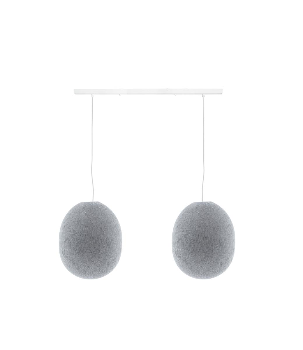 Cotton Ball Lights Tweevoudige hanglamp balk - Oval Stone