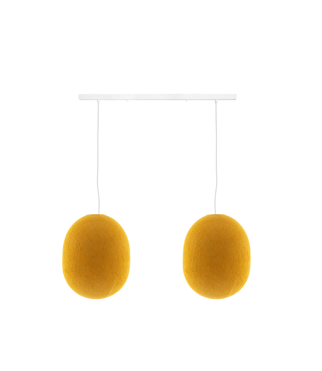 Cotton Ball Lights Tweevoudige hanglamp balk - Oval Mustard