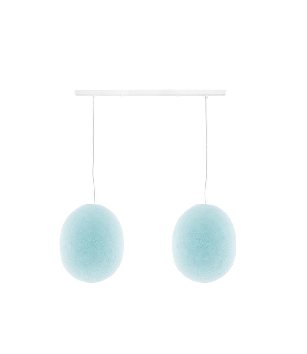 Cotton Ball Lights Tweevoudige hanglamp balk - Oval Light Aqua