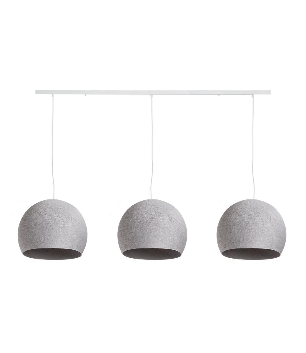 Cotton Ball Lights Drievoudige hanglamp balk - Driekwart Stone