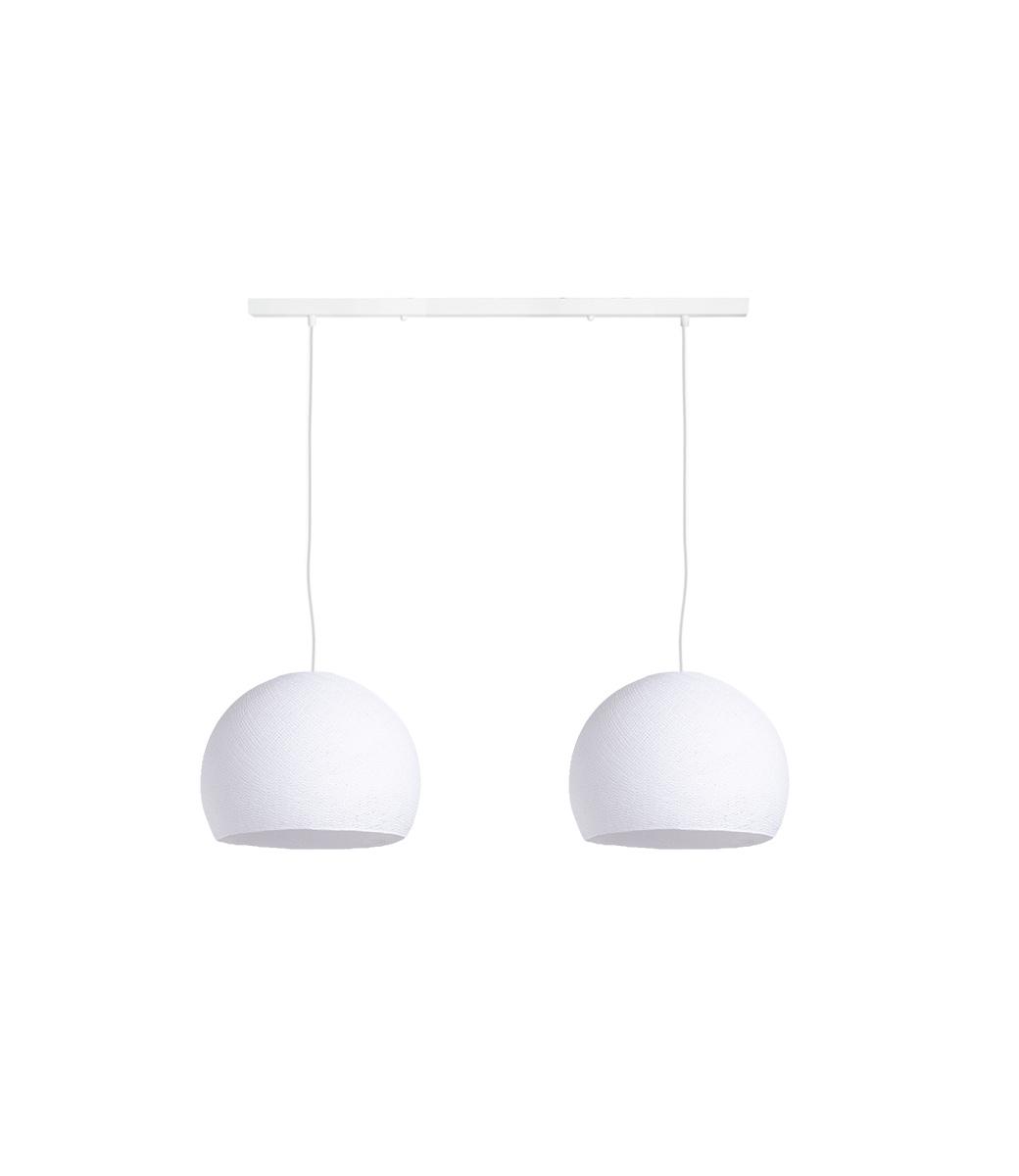 Cotton Ball Lights Tweevoudige hanglamp balk - Driekwart White