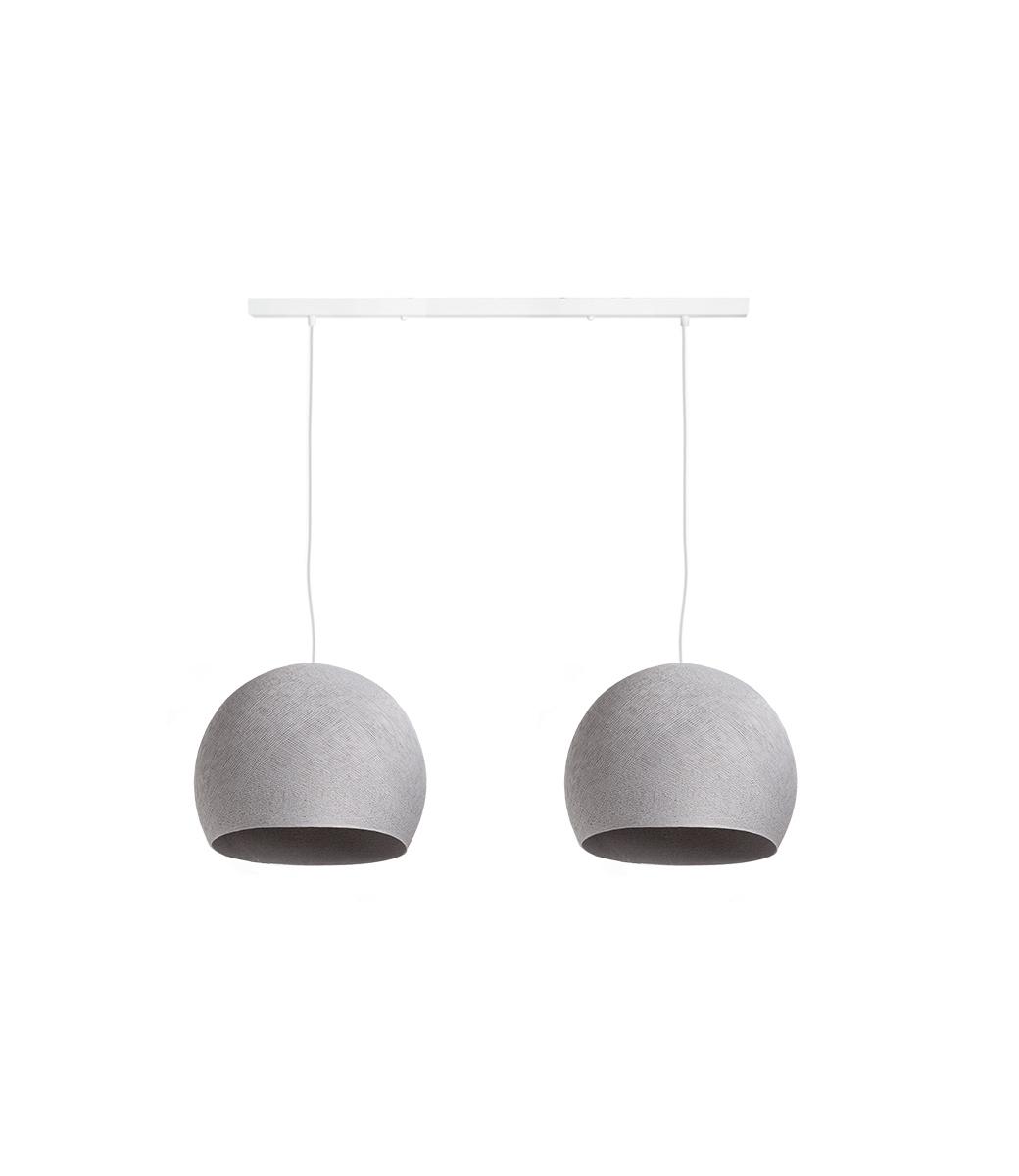 Cotton Ball Lights Tweevoudige hanglamp balk - Driekwart Stone
