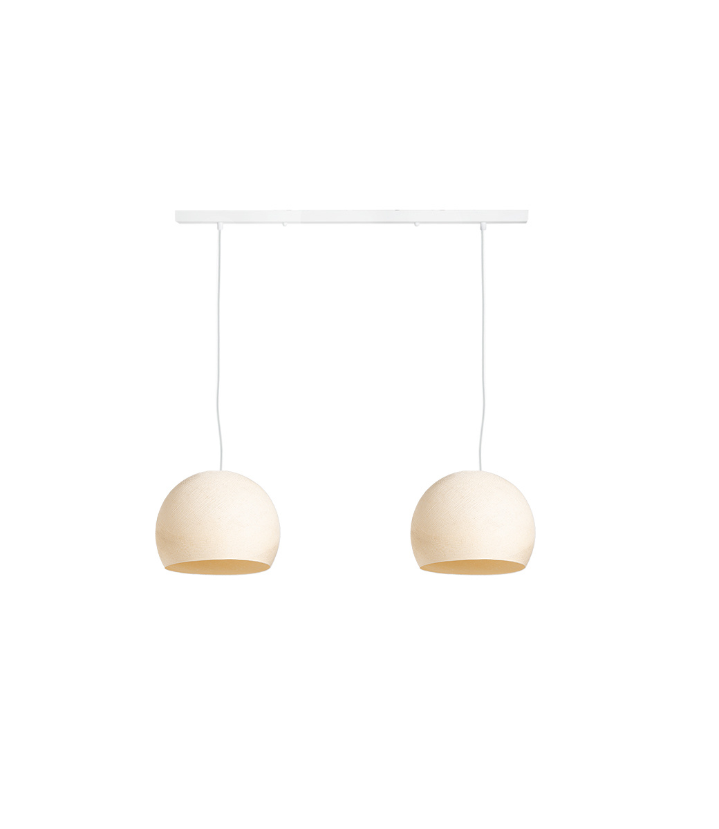 Cotton Ball Lights Tweevoudige hanglamp balk - Driekwart Shell