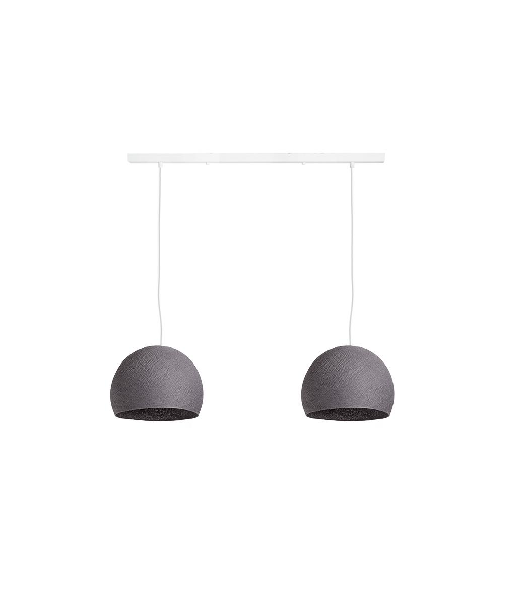 Cotton Ball Lights Tweevoudige hanglamp balk - Driekwart Mid Grey