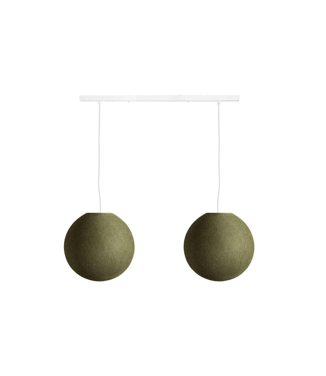 Cotton Ball Lights Tweevoudige hanglamp balk - Kaki