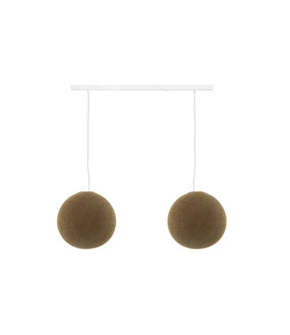 COTTON BALL LIGHTS Double Hanging Lamp Ceiling - Caffee Latte
