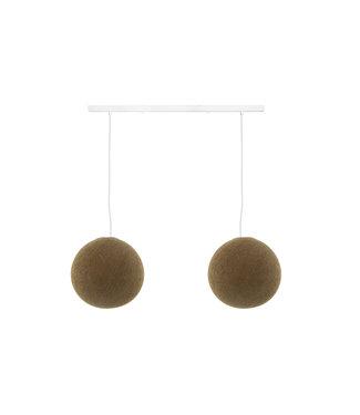 COTTON BALL LIGHTS Tweevoudige hanglamp balk - Caffe Latte