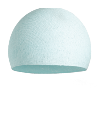 COTTON BALL LIGHTS Light Aqua - Three Quarter