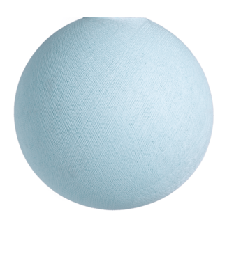 COTTON BALL LIGHTS Light Aqua - Full Round
