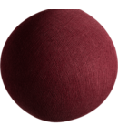 COTTON BALL LIGHTS Dark Red - Full Round