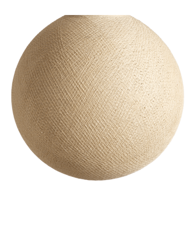 COTTON BALL LIGHTS Cream - Full Round