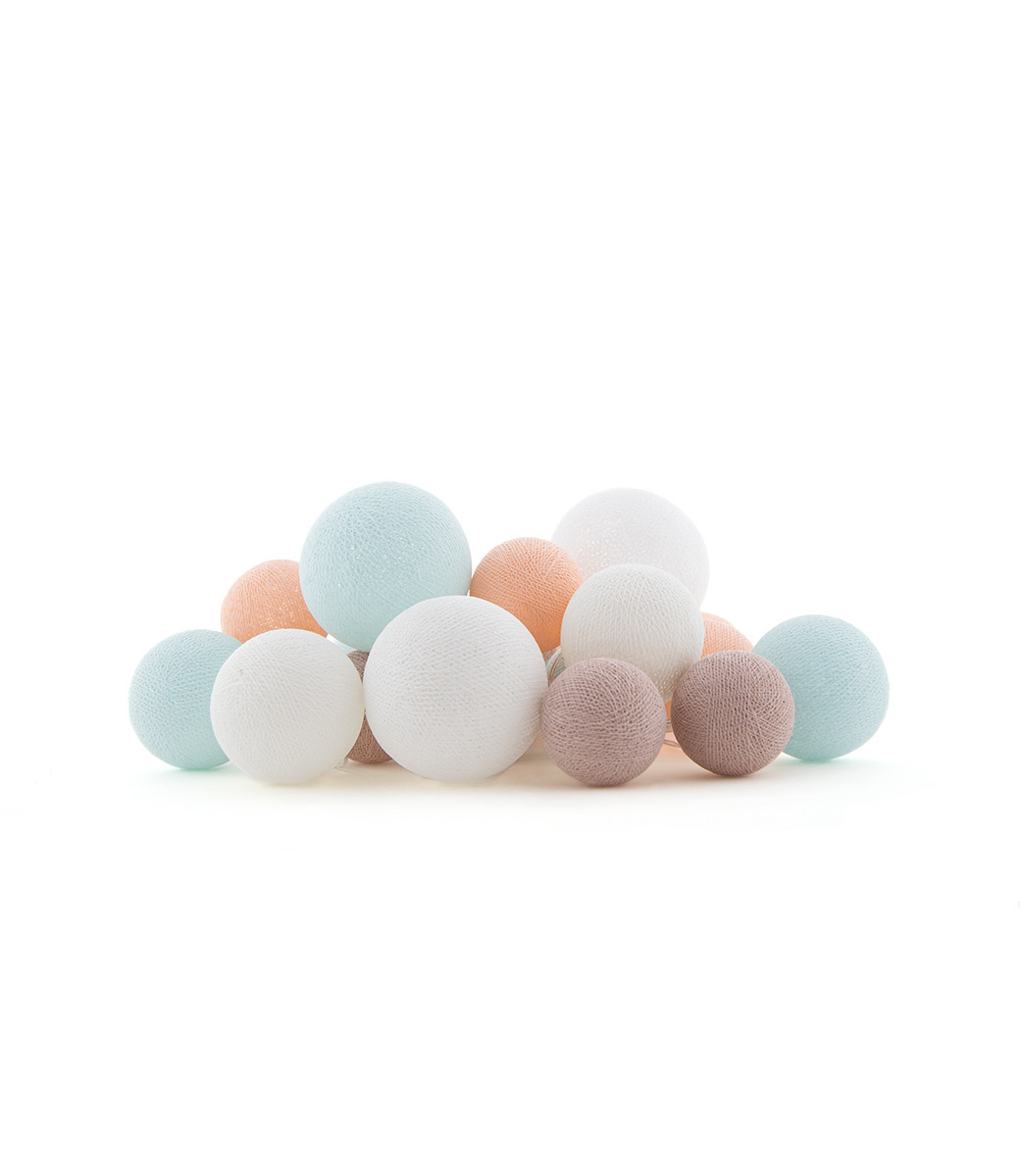 Cotton Ball Lights premium Lichtslinger - Sweet Macaron