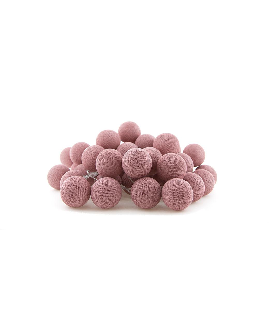 Cotton Ball Lights regular Lichtslinger - Rose