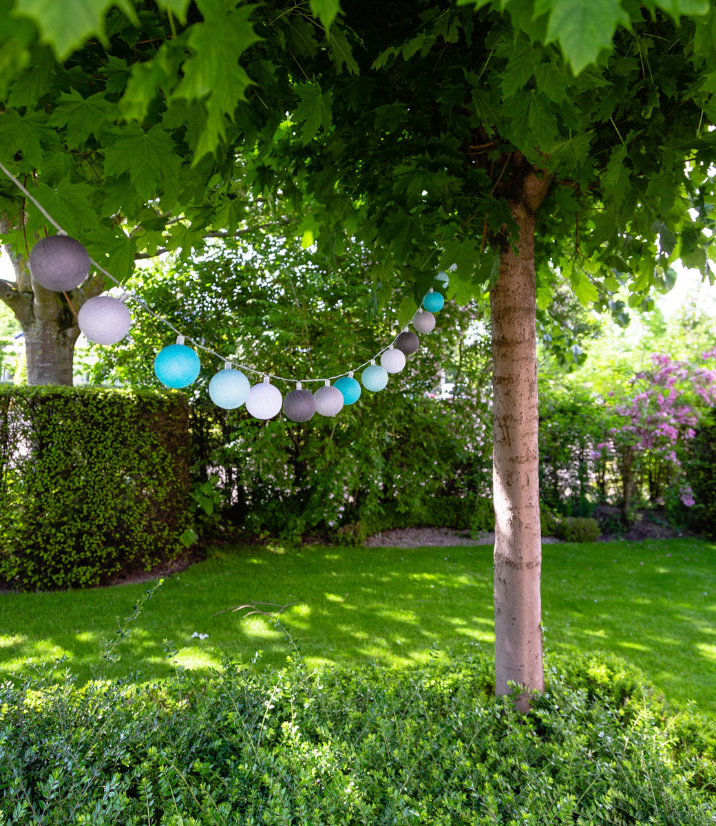 Cotton Ball Lights buiten feestverlichting blauw - 20 ballen - Turquesa