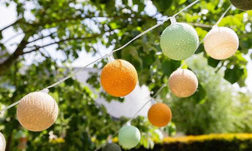 Outdoor Cotton Ball String lights