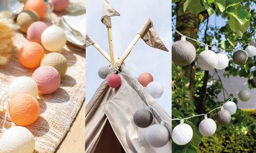 Alle Outdoor Cotton Ball Lichterketten