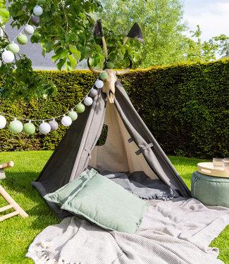 COTTON BALL LIGHTS Tipi tent - Antracite