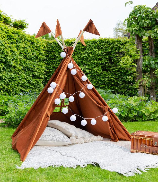 COTTON BALL LIGHTS Tipi tent - Velvet Copper