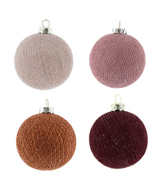 COTTON BALL LIGHTS Christmas Cotton Balls - Bohemian Spice