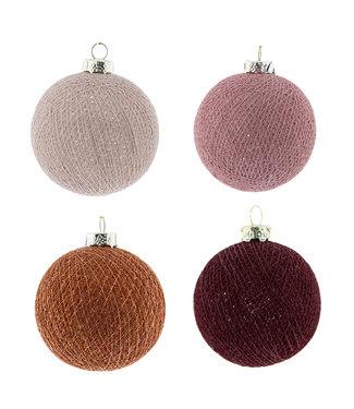 COTTON BALL LIGHTS Kerstmis Cotton Balls - Bohemian Spice