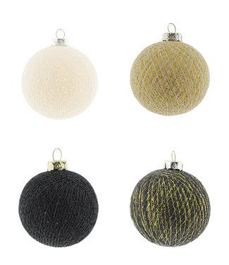 COTTON BALL LIGHTS Christmas Cotton Balls - Midnight Chique