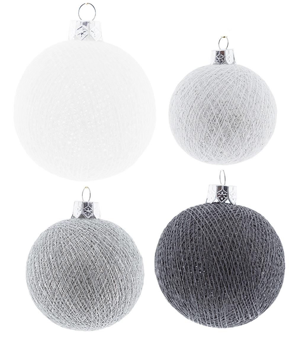 Kerstmis Cotton Balls - Silver Mix Premium