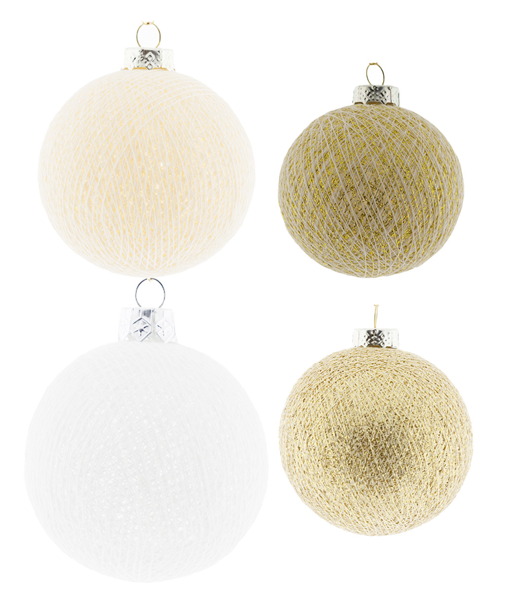 Kerstmis Cotton Balls - Touch of Gold Premium