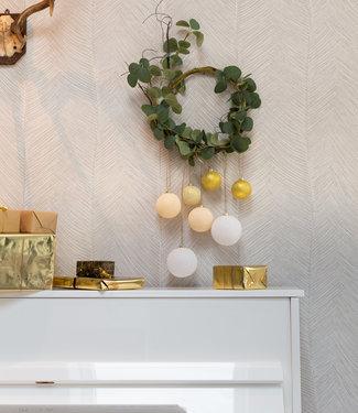 COTTON BALL LIGHTS Christmas Cotton Balls - Touch of Gold Premium