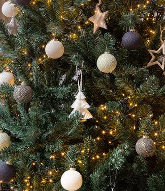 COTTON BALL LIGHTS Kerstmis Cotton Balls - Midnight Chique