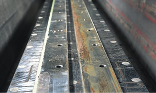 Regrinding of shear blades