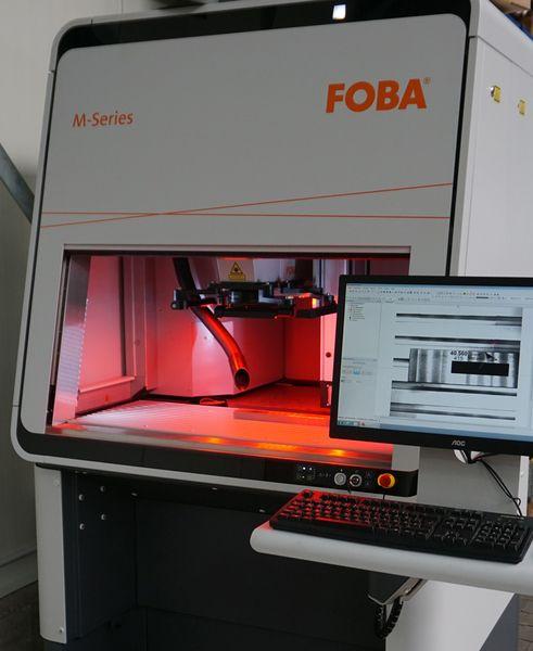 Neue Laserbeschriftungsanlage FOBA M3000B