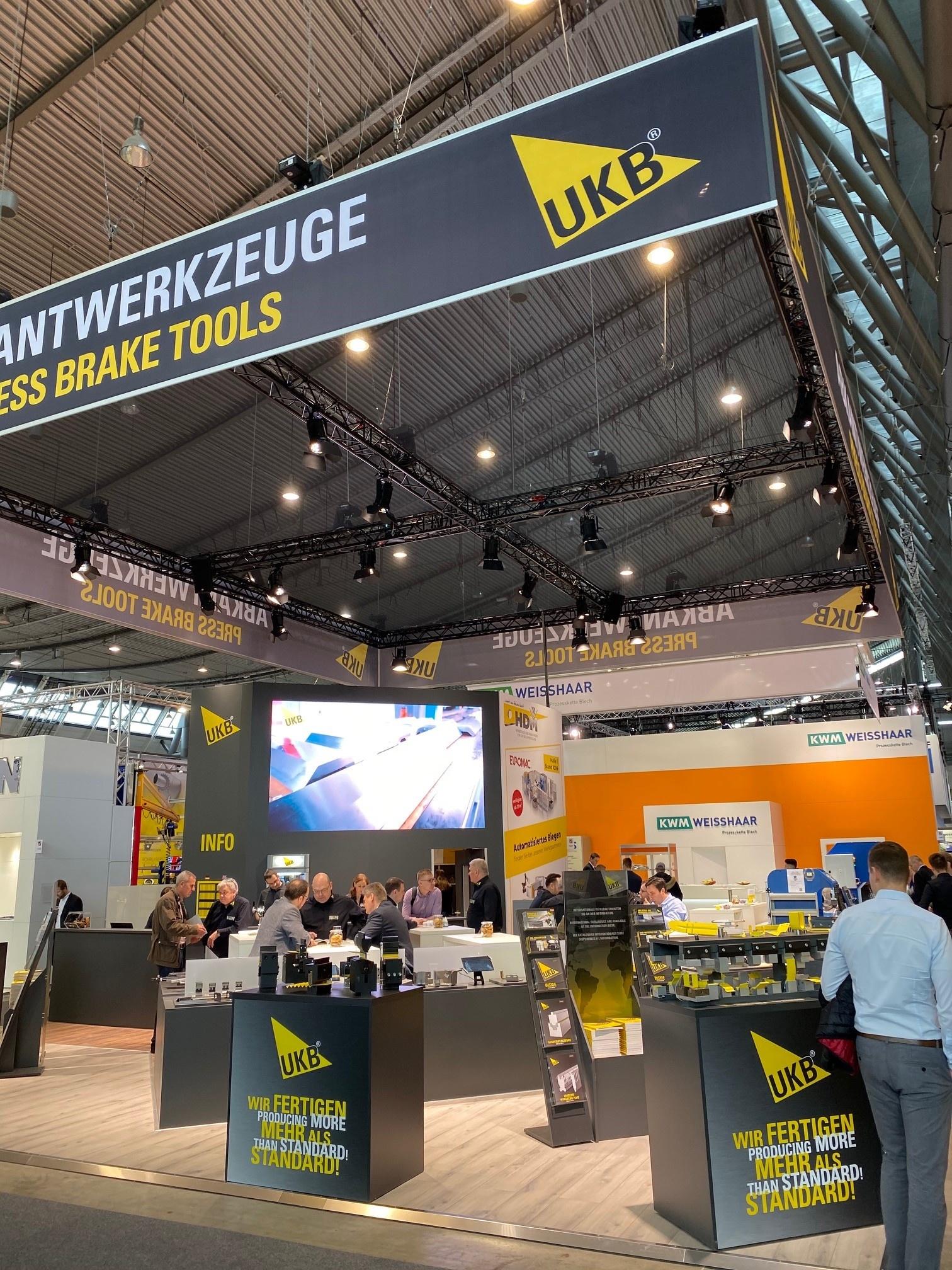 UKB @ Blechexpo 2019 in Stuttgart (Duitsland)