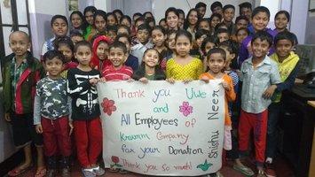 Пожертвования в проект Shishu Neer