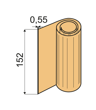 Feuilles de pliage Shore 60 A, VU 0,55 x 152