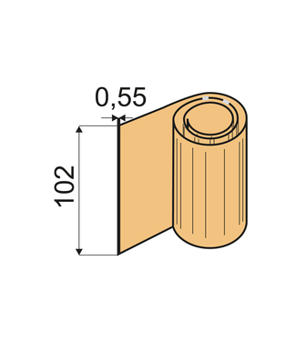 Feuilles de pliage Shore 60 A, VU 0,55 x 102