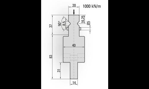 Punch/top-tool adaptors