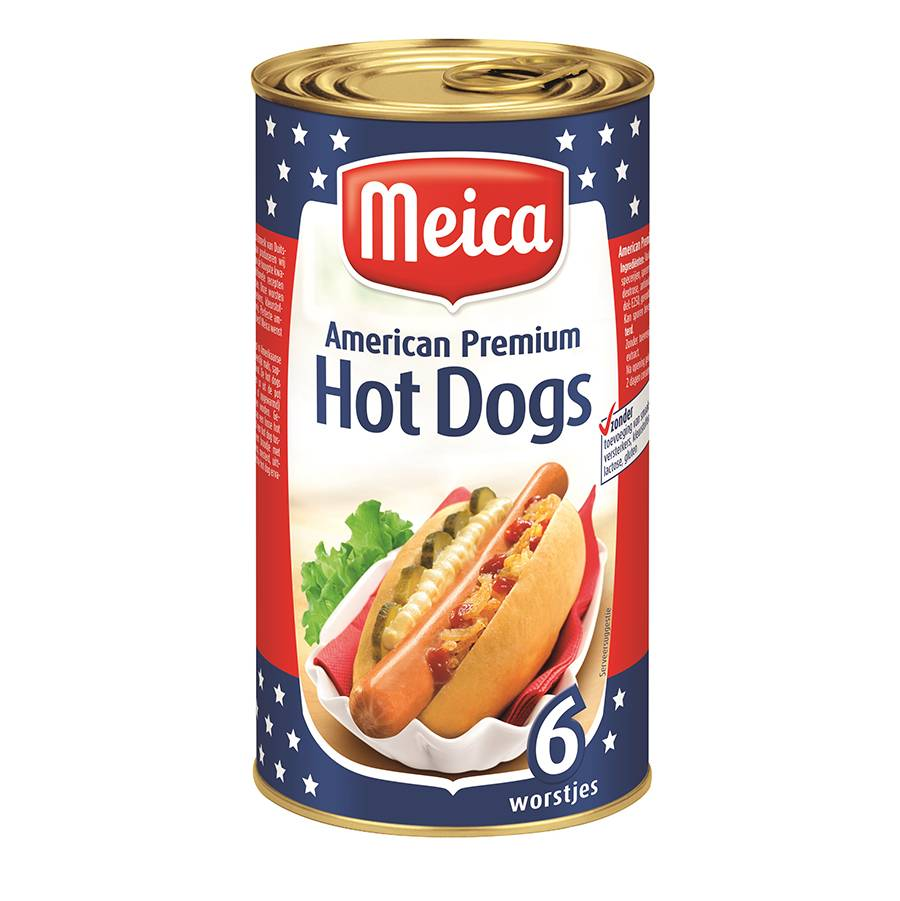 American Hot Dogs 6 st - 250g x 12 - Tray