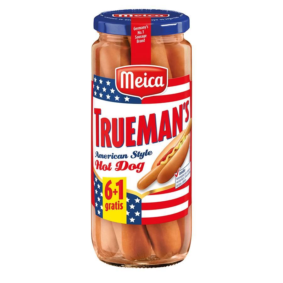 Trueman's Hot Dogs 6+1 gratis - 350g x 12 - Tray