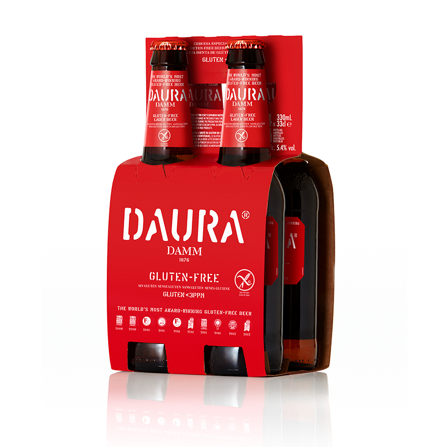 Gluten free Lager Bier(5,4% alcohol) - 6x 4x 330ml - Glas