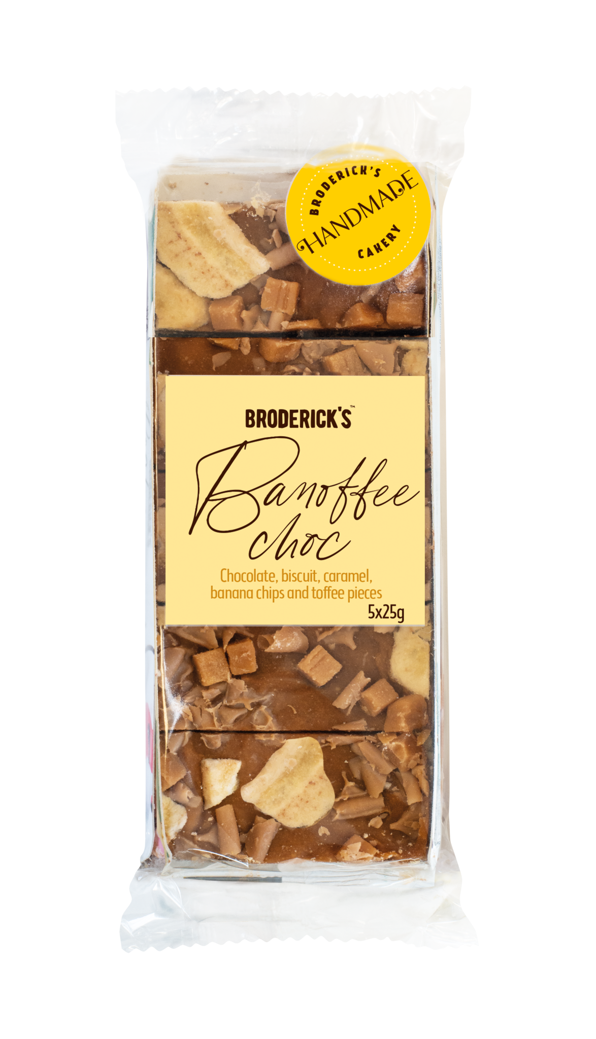 Broderick's Banoffee chocoladerepen 125g (5x25g)