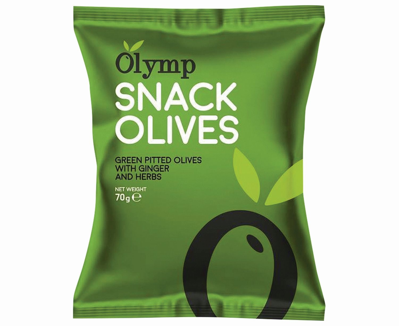 Olymp snack olivesOlymp snack olives, Ginger and Herbs zakje 70g