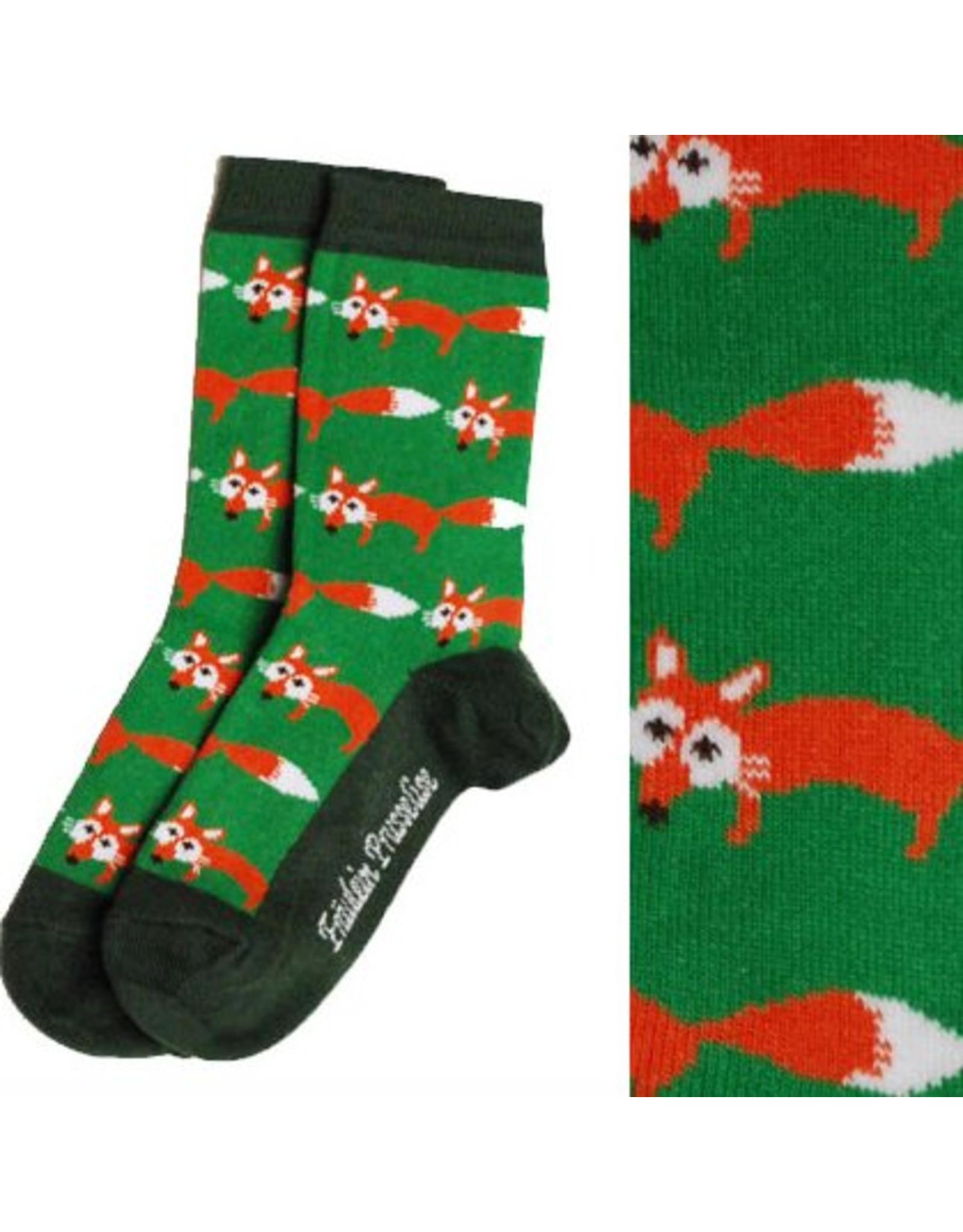 Fräulein Prusselise Children's socks - foxes