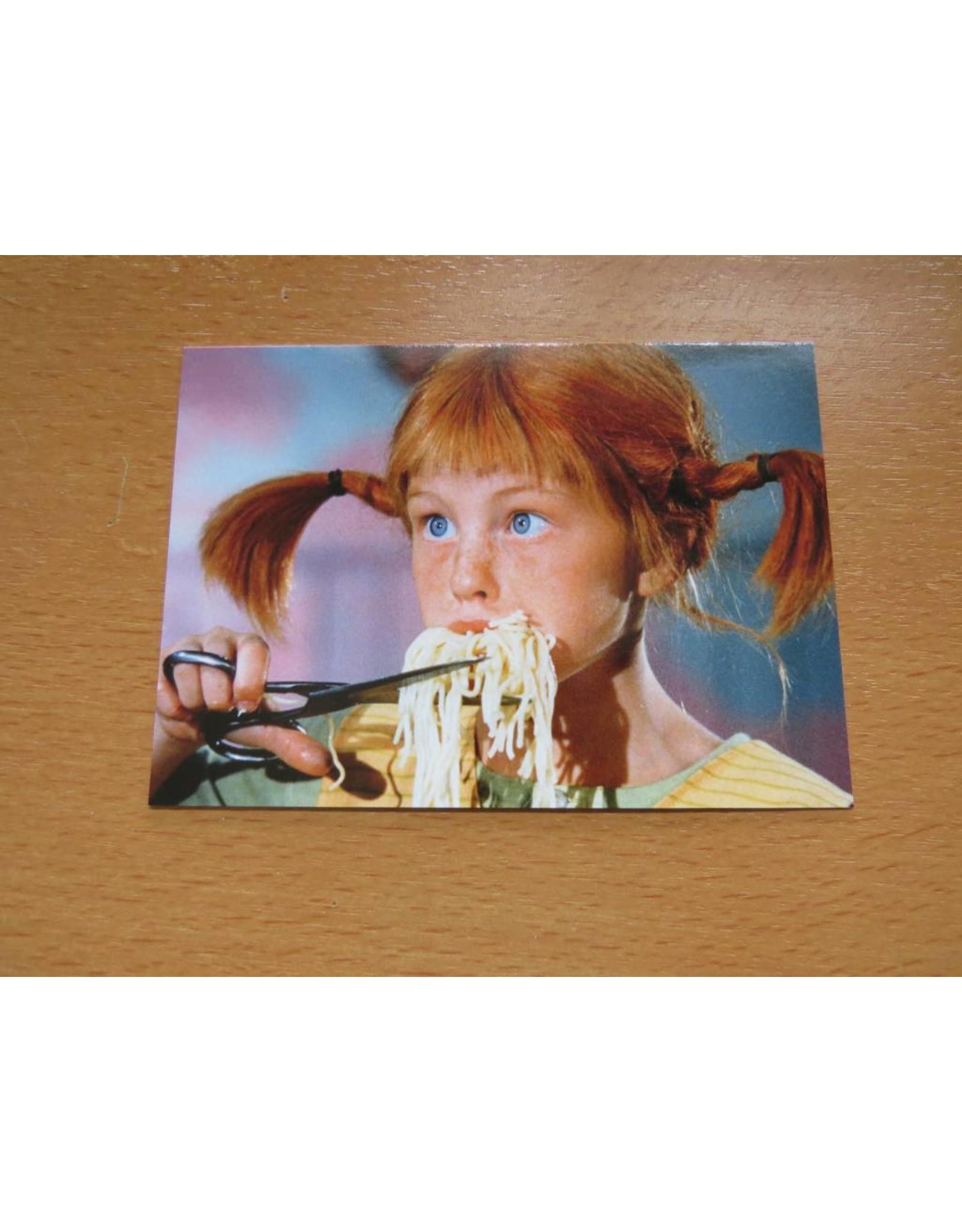 Pippi Langkous Pippi Longstocking card - Spaghetti