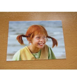 Pippi Langkous Pippi Longstocking card - Laughing