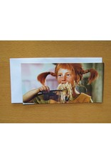 Pippi Langkous Pippi Langkous kaart - Spaghetti eten