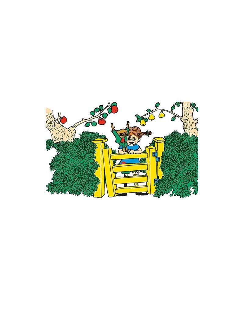 Pippi Langkous Pippi Langkous kaart - Achter het hek