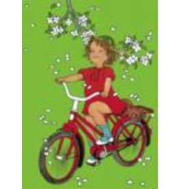 Pippi Langkous Astrid Lundgren card - Visst kan lotta cykla