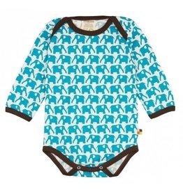 loud+proud Romper - blauwe olifanten