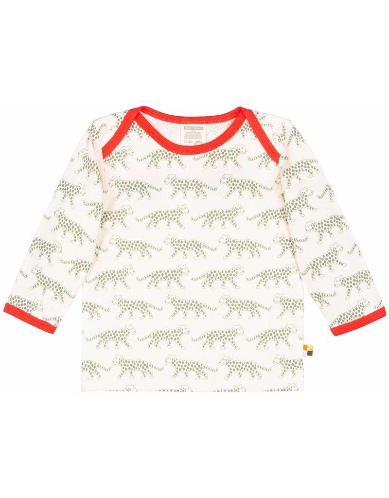 loud+proud Kindershirt - olijfkleurige luipaard